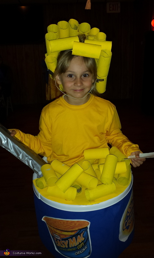 Her at the 2nd contest she was in, Bowl of Mac and Cheese Costume