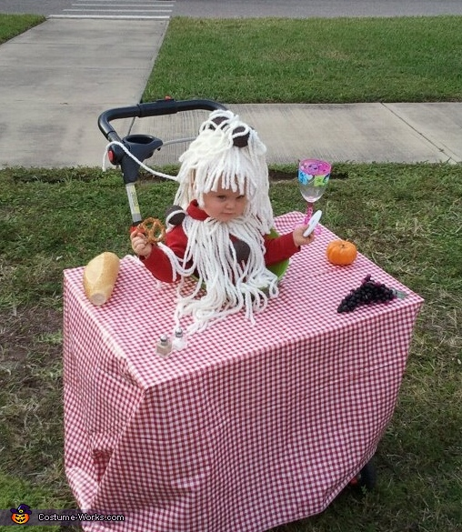 Bowl of Spaghetti and Meatballs Costume