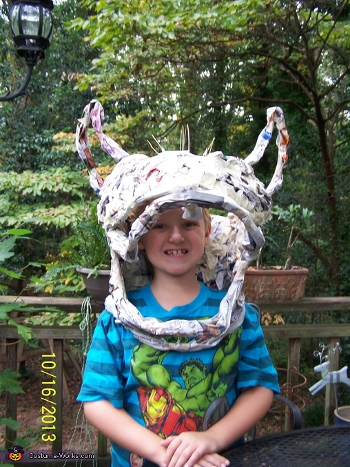 Bowser head frame, Bowser Costume