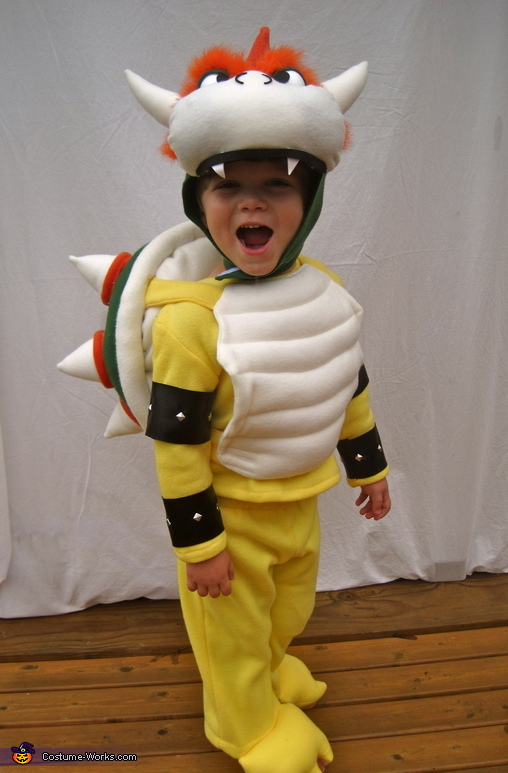 My son as Bowser, Bowser from Mario Bros. Costume