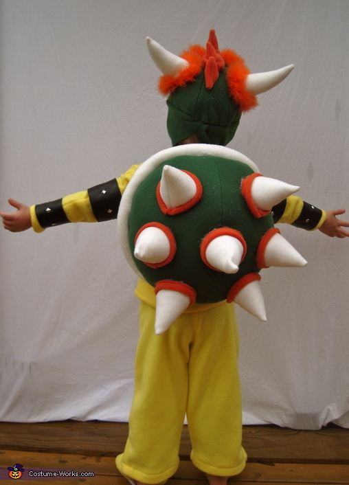 My son, Henry, as Bowser, Bowser from Mario Bros. Costume