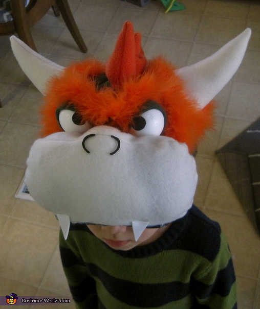 Close-up of Bowser Headpiece, Bowser from Mario Bros. Costume