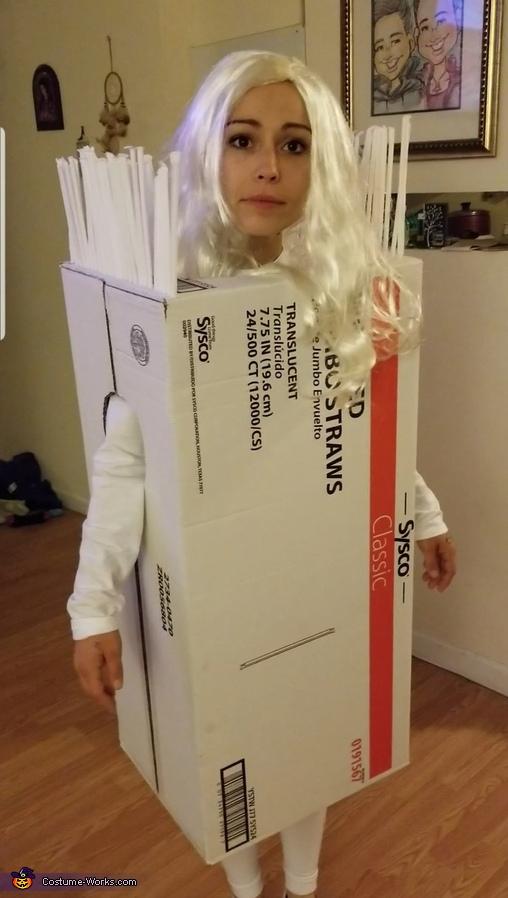 Box of Straws Homemade Costume