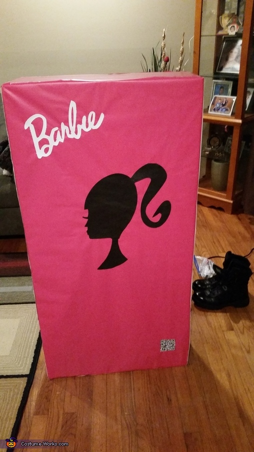 Back Barbie box, Boxed Barbie Costume