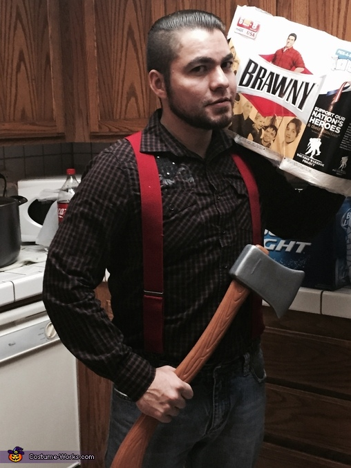 Brawny Paper Towel Guy Homemade Costume