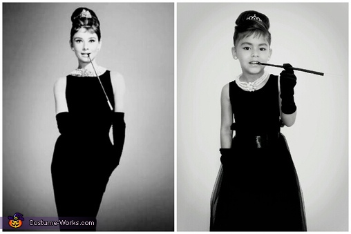 Audrey Hepburn look alike., Breakfast at Tiffany's Costume