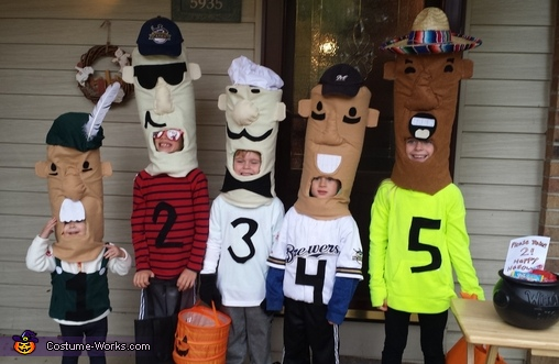 5 Brewer's Racing Sausages Costume