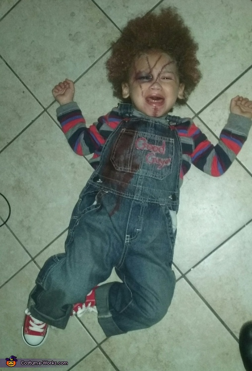 uh oh Chucky's getting mad..., Bride & Chucky Costume