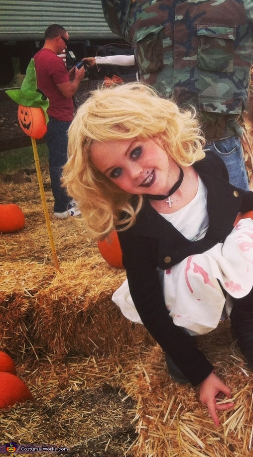 Homemade Bride of Chucky Costume