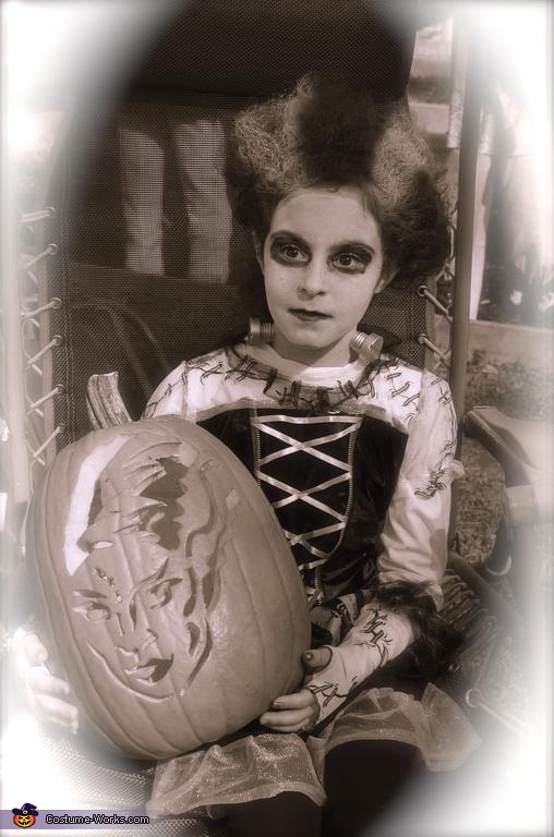 Bride of Frankenstein Costume for Girls