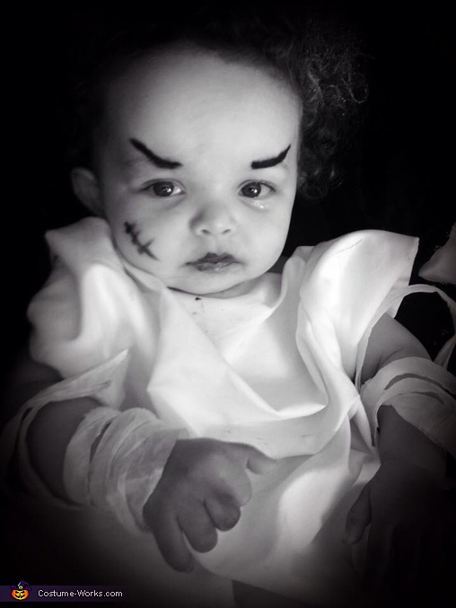 Bride of Frankenstein Baby Homemade Costume