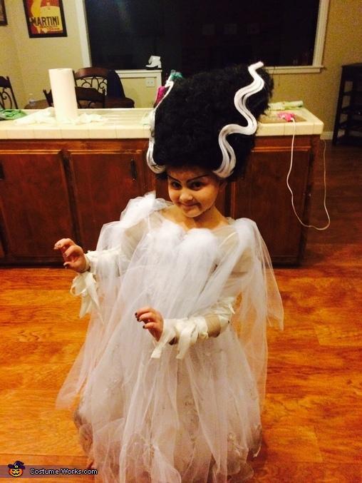 Bride of Frankenstein Girl Homemade Costume