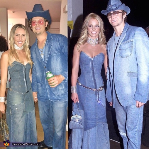 Britney & Justin AMA Red Carpet 2001 Costume