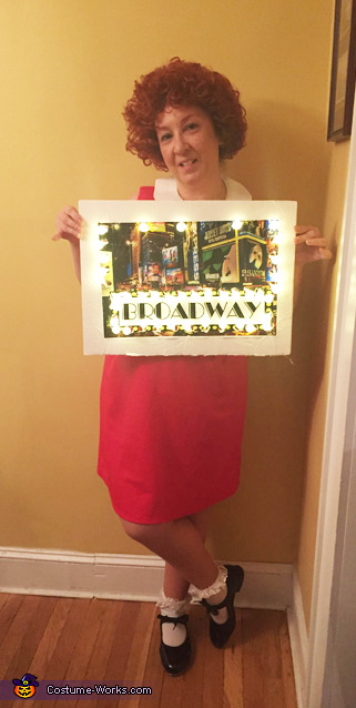 Our Broadway in Lights sign, Broadway Musicals Costume