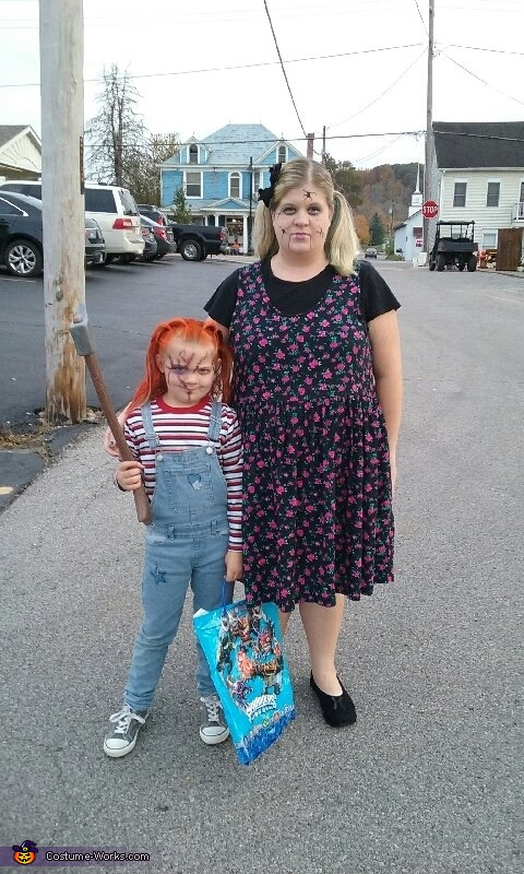 Broken Doll and Chucky Doll Costume
