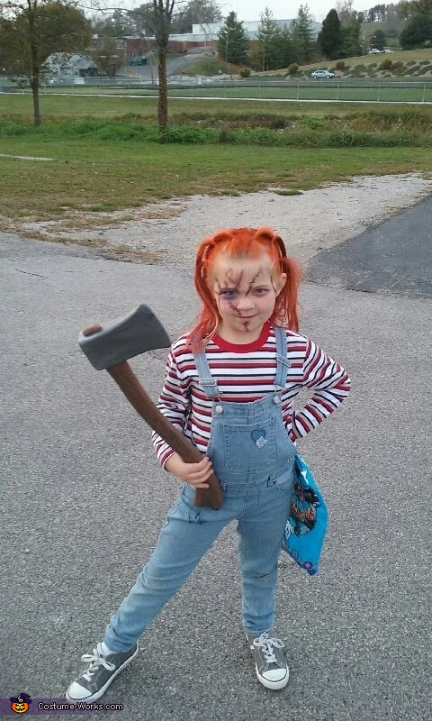 Chucky. (my daughters costume), Broken Doll and Chucky Doll Costume