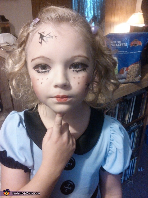 doll face, Broken Doll Costume
