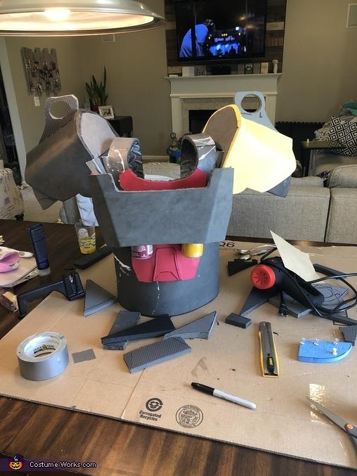 Pre-foam shaping, Brotherhood of Steel Power Armor Costume