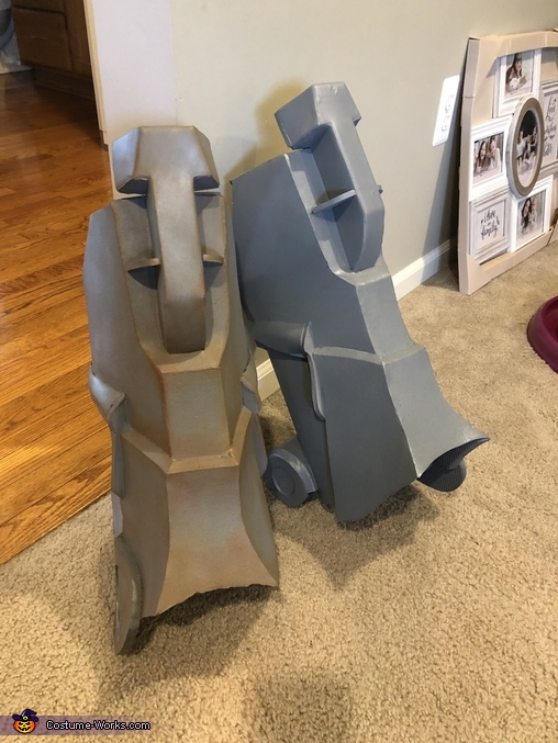 What a difference weathering makes!, Brotherhood of Steel Power Armor Costume