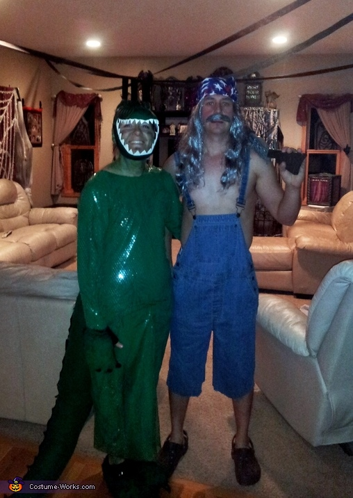 Swamp People Bruce and Gator Couple Costume
