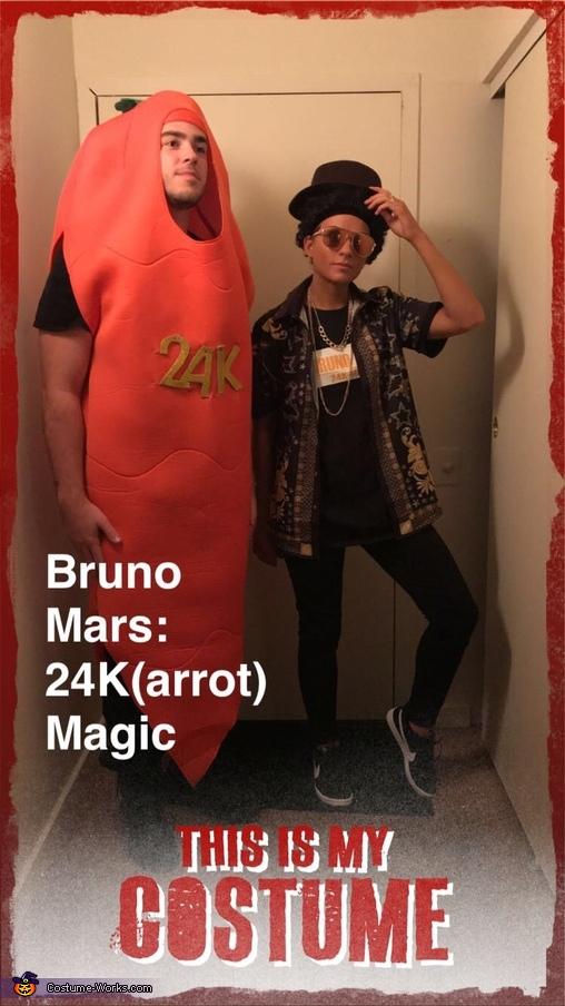 24 Carrot, Bruno Mars 24K(arrot) Costume