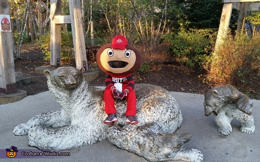 Out and about, Brutus Buckeye Costume