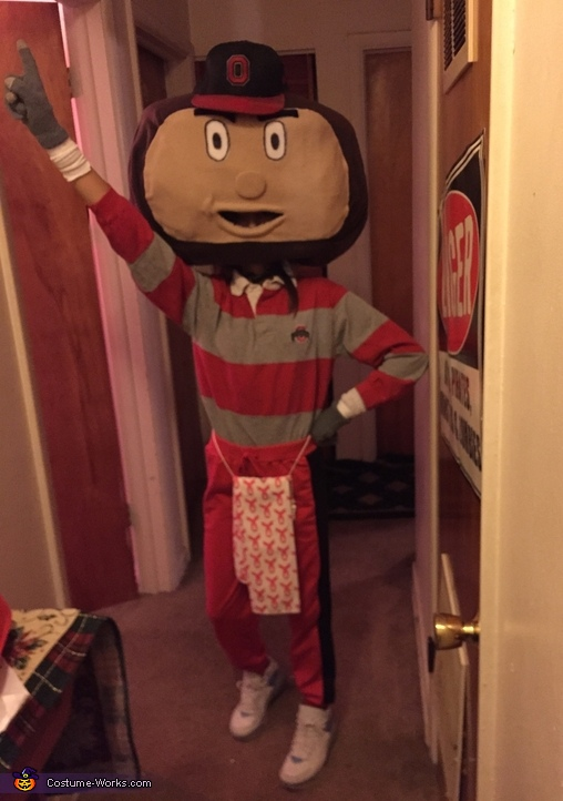 Brutus the Buckeye Costume