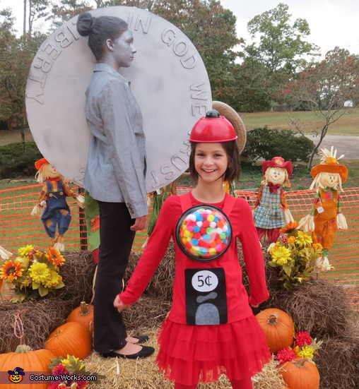 Bubblegum Machine and Nickel Costume
