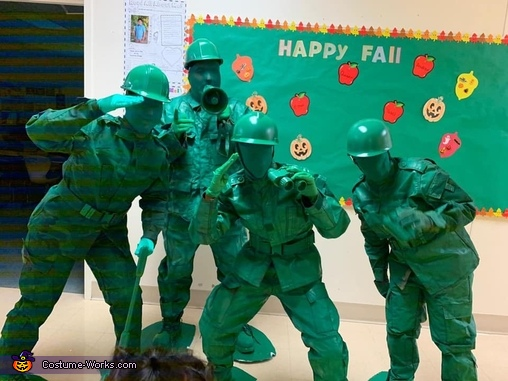 Life sized army men, Bucket of Soldiers Costume