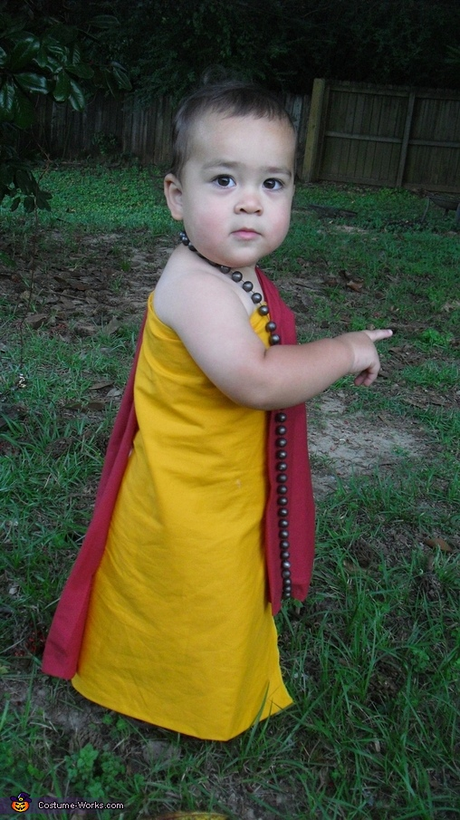 Buddhist Monk Baby Homemade Costume