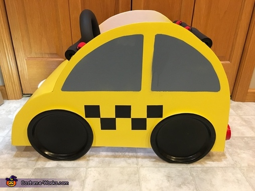 Side of car costume, Bug Car Taxi Costume