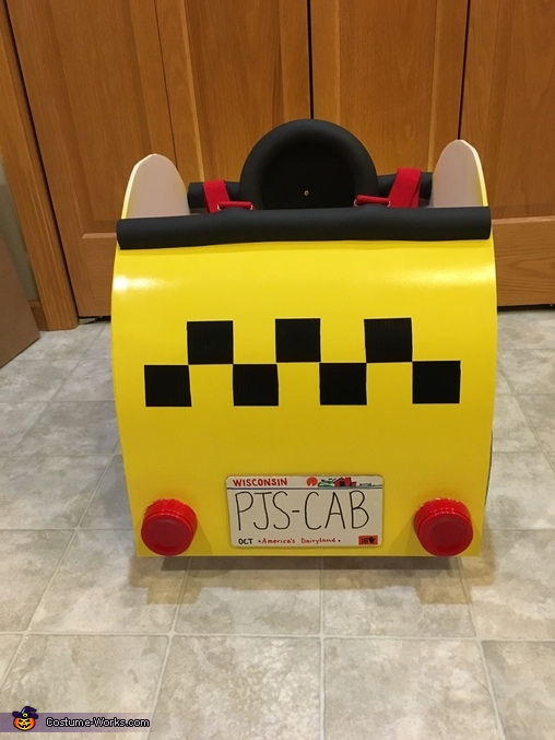 Back of taxi costume, Bug Car Taxi Costume