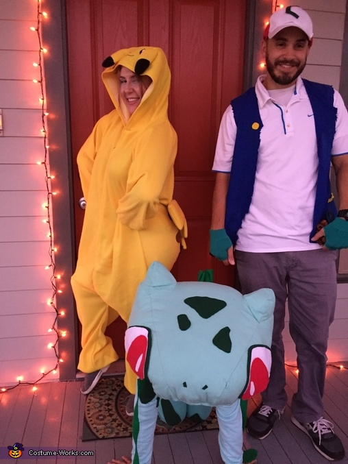 Our Pokémon family, Bulbasaur from Pokémon Costume