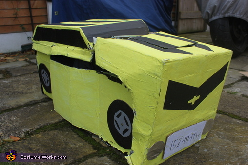 Car mode front view, Bumblebee Transformer Costume