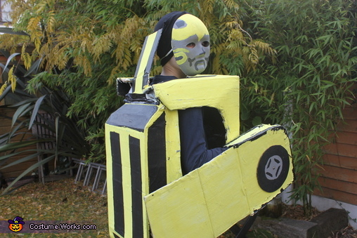 Bumblebee rear view, Bumblebee Transformer Costume