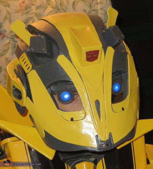 Bumblebee Helmet Front View, Bumblebee Costume