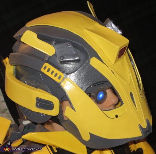 Bumblebee Helmet Side View, Bumblebee Costume