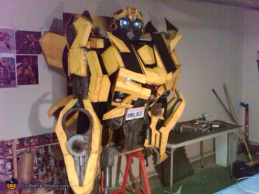 In my garage being built., Bumblebee Costume