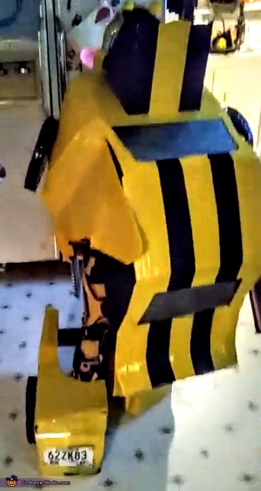 Standing back, Bumblebee Transformer Costume