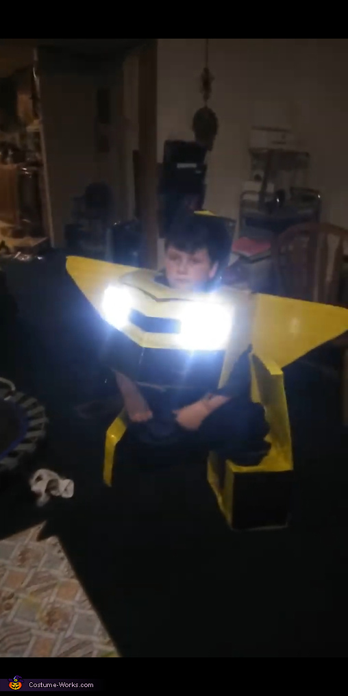 Another pic of him in the process of transforming!, Bumblebee Transformer Costume