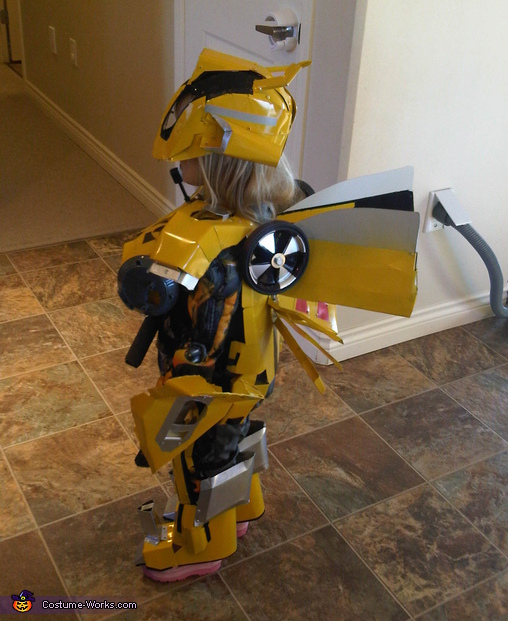 BumbleBee Side view, BumbleBee Transformer Costume