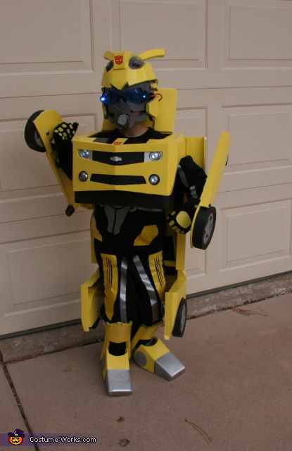 Bumblebee Transformer - Homemade costumes for boys