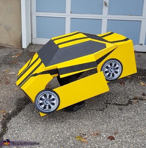 Mid-transformation, Bumblebee Transformer Costume
