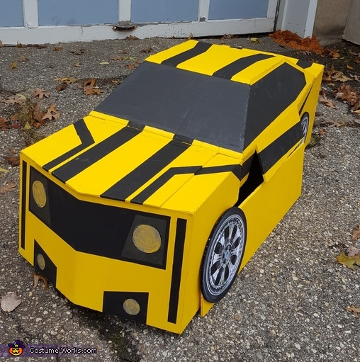 Front of Car, Bumblebee Transformer Costume