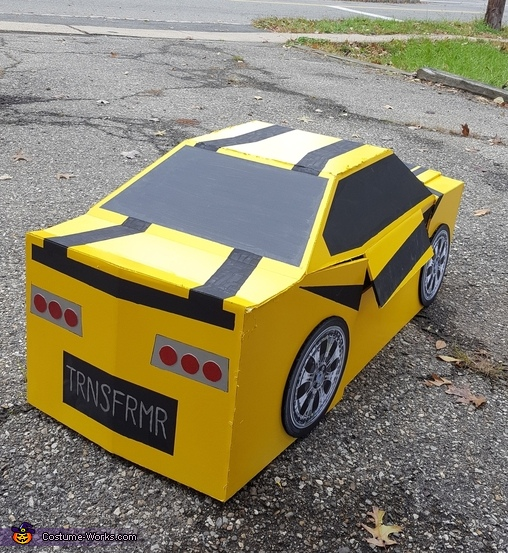 Back of Car, Bumblebee Transformer Costume