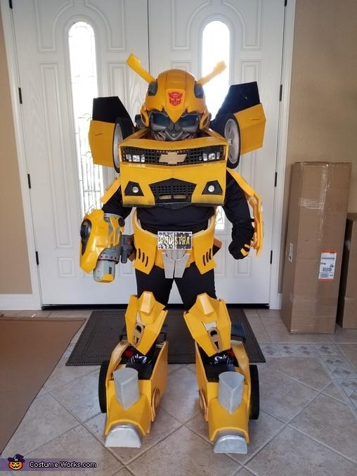 Bumblebee Transformer Boy Costume