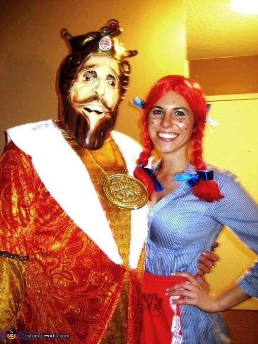 Burger King and Wendy Costume