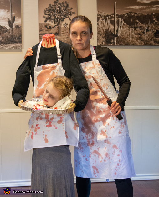 Headless butcher with killer butcher, Butcher Accident Gone Wrong Costume