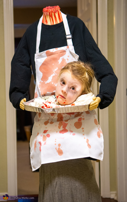Cute headless butcher, Butcher Accident Gone Wrong Costume