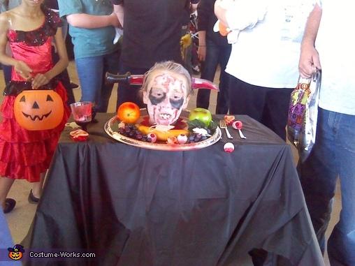 Butcher & Head on Platter Homemade Costume